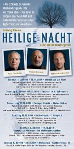 Heilige Nacht 2014 Flyer